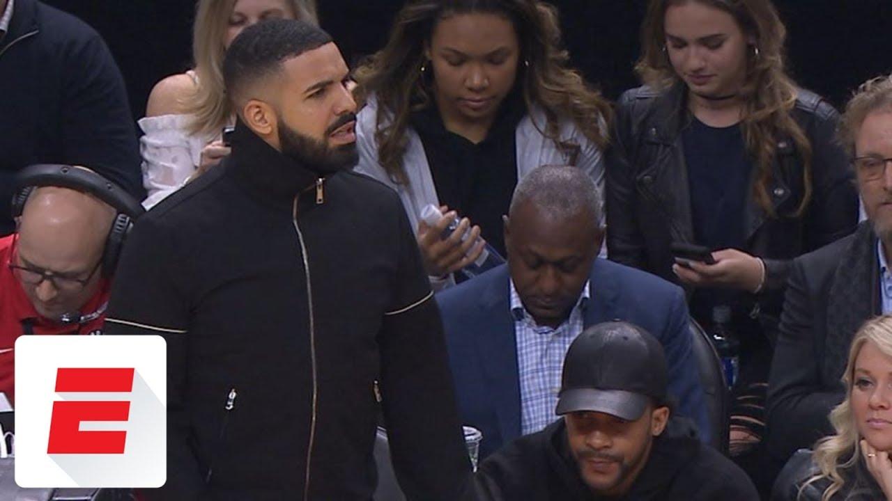 Lucas Nogueira's fast-break dunk vs. Celtics gets Drake out of his seat | ESPN