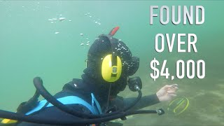 Download Found $5,000 Buried Treasure (NO POLICE ASSISTANCE) Underwater Metal Detecting GOLD!! Mp3 and Videos