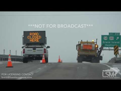 04-14-2018 Grand Island, Nebraska Blizzard Conditions and Ice