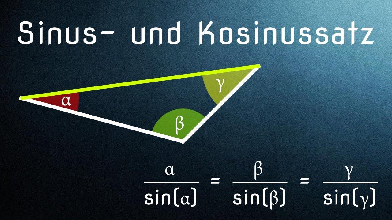 Kosinussatz Herleitung & Anwendung / Sinus und Kosinus (Allgemeines ...