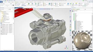 T-FLEX CAD 15 - Фотореализм, шаровой кран