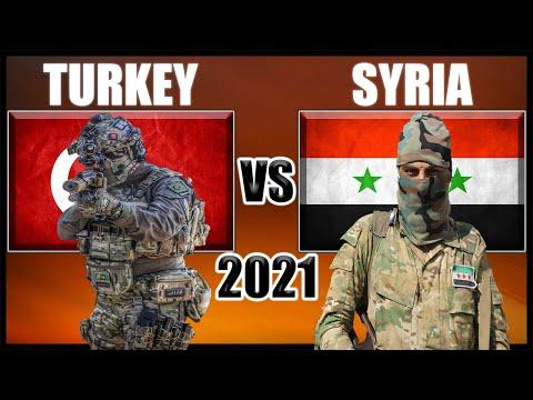 Turkey vs Syria Military Power Comparison 2021