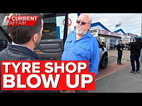 Tyre shop blow up leaves young mum in tears | A Current Affair