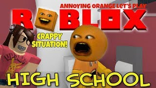 Annoying Orange Plays - ROBLOX: High School