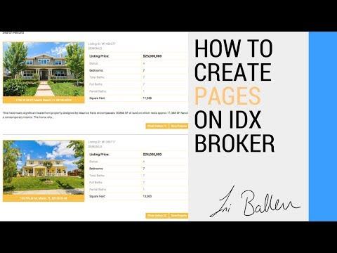 IDX Broker Pages | Customizing for Real Estate Agent Websites | Lori Ballen SEO 2017