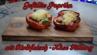 📷 Gefüllte Paprika mit Rindfleisch - Käse - Füllung