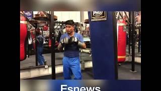 135 Pound Boxer vs 330 Pound Weightlifter mikey garcia vs big boy