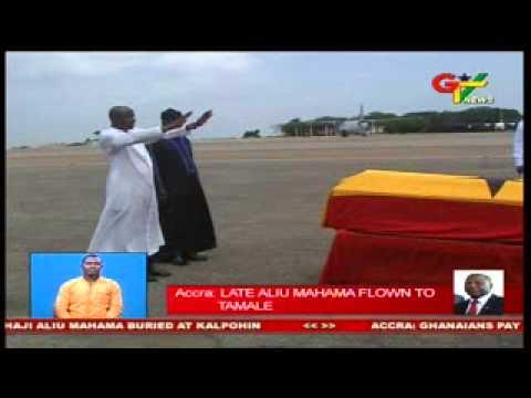 Late Aliu Mahama Flown To Tamale