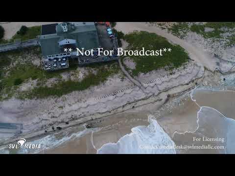 Davis Park, Fire Island, New York - Hurricane Jose Beach Erosion Drone Footage -September 17th, 2017