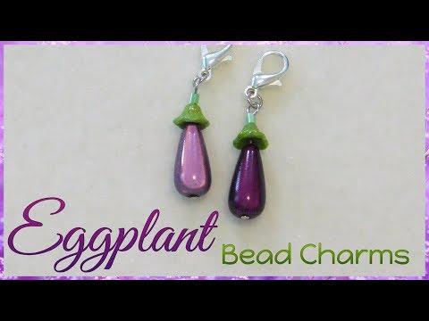 Eggplant Bead Charms