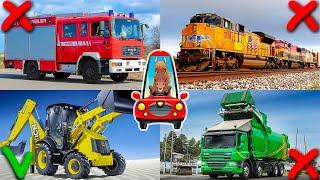 Изучаем транспорт и спецтехнику для детей. Виды транспорта. Логика для малышей