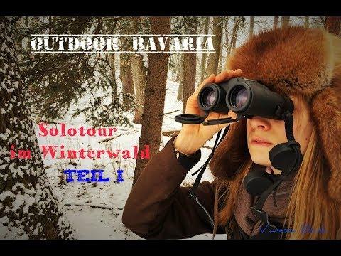 Schneebedeckt- Wintersolotour Teil 1 - Vanessa Blank - Outdoor Bavaria - Bushcraft & Survival