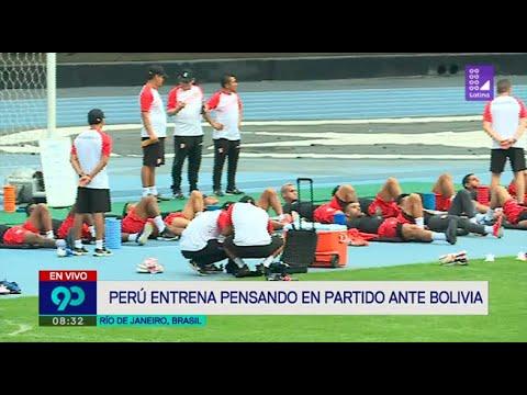 La selección peruana entrena pensado en su duelo frente a Bolivia