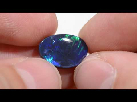 3.93cts Chinese Writing Black Opal