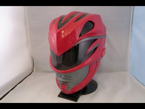 Red Power Rangers Movie Legacy Helmet