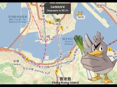 Farfetchd Found In Hong Kong Map Pokemon Go Today YouTube - Japan map pokemon go