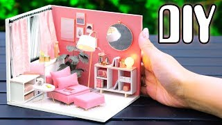 Diy Miniature Dollhouse Kit || Happy Moment   With Full Furniture & Lights
