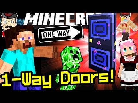 how to make a one way door in minecraft