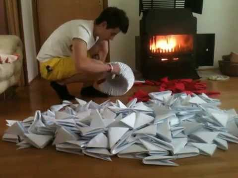 Biggest 3D Origami Swan - YouTube