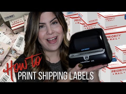 how to print Poshmark shipping labels on a Dymo 4XL printer + promo code!