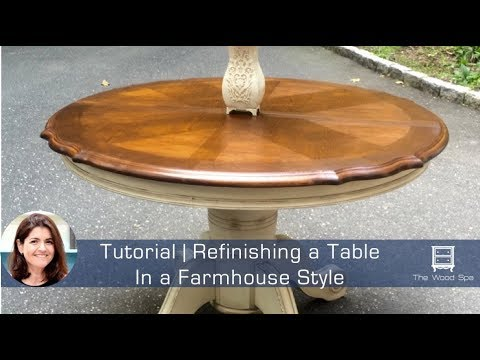 Refinishing a kitchen table - YouTube
