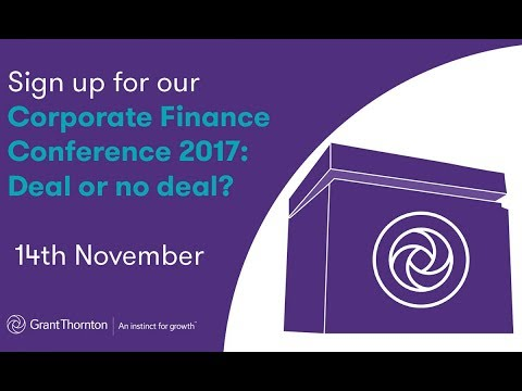Corporate Finance Conference 2017: Deal or no deal?