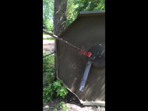 How To Remove Bush Hog Blades Youtube
