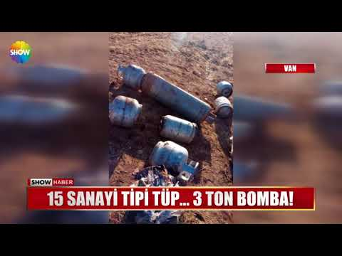 15 Sanayi Tipi Tüp... 3 Ton Bomba!