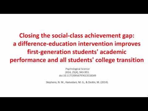 Closing the social-class achievement gap