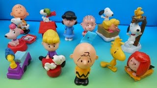2015 THE PEANUTS MOVIE SET OF 12 McDONALD