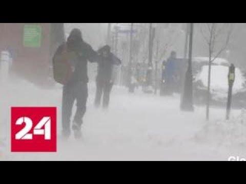 На востоке Канады снегопад оставил без света 35 тысяч потребителей - Россия 24