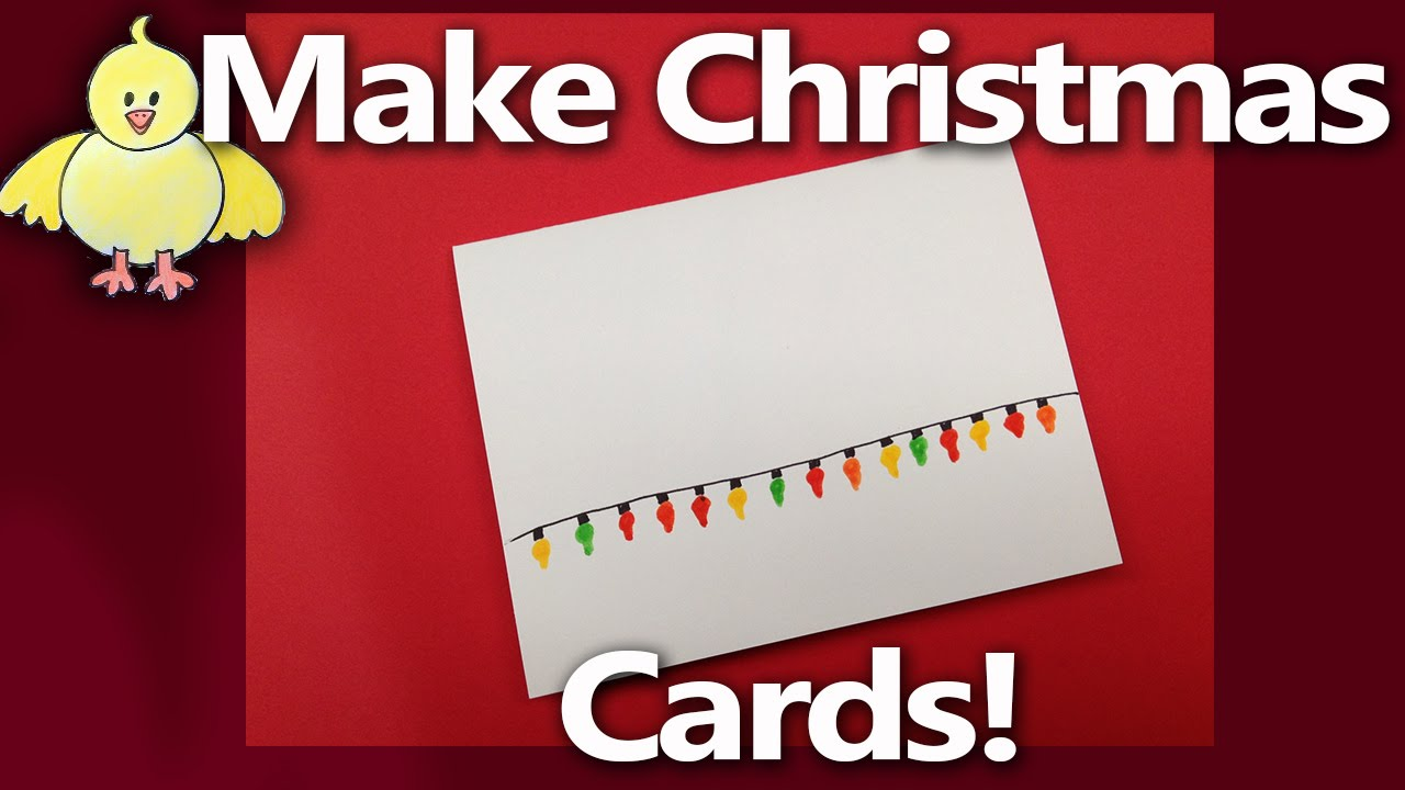 How to make handmade christmas cards or party invitation christmas how to make handmade christmas cards or party invitation christmas lights from livestream 2 youtube stopboris Gallery