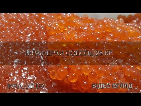Икра нерки Соболь красная лососевая видео обзор качественного продукта, вес 25 кг