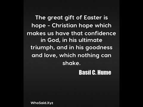 Basil c hume the great gift of easter is hope christian hope basil c hume the great gift of easter is hope christian hope which negle Image collections