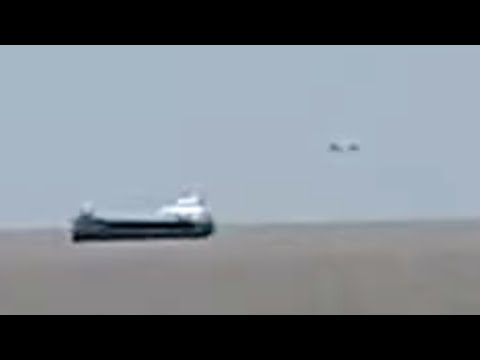 Disk Shaped UFO Filmed Near Ship? Sea Mirage Phenomenon? (Fata Morgana) over Bristol Channel (UK)