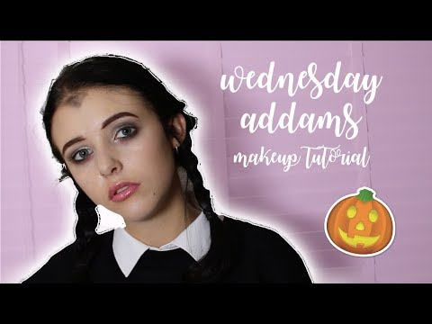 WEDNESDAY ADDAMS MAKEUP TUTORIAL || Holly Laing