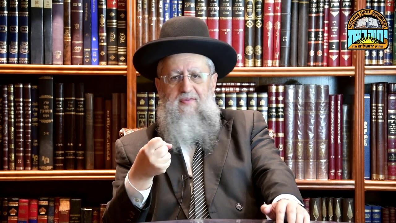 """הרב דוד יוסף - פירוש לפרשת כי תצא: """"כל אחד צריך כיוון נכון בחיים!"""""""