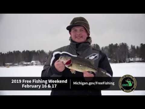 Free Fishing Weekend Winter 2019
