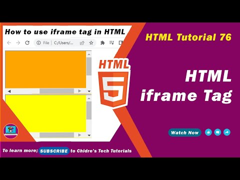 HTML Video Tutorial - 76 - Html Iframe Tag