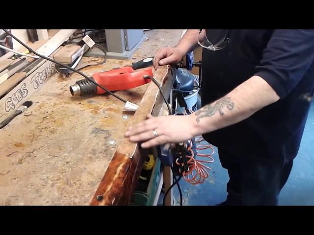how to strip bentley door cappings part 2