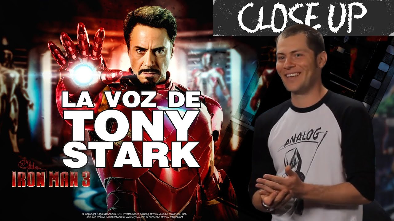 Close Up A Iron Man3 Idzi Actor De Doblaje Youtube