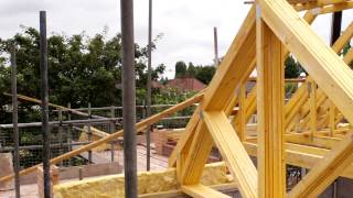 Wonderful Homes - Roof Trusses Being Craned In At The 5 New Homes We're Building On Gospel Lane