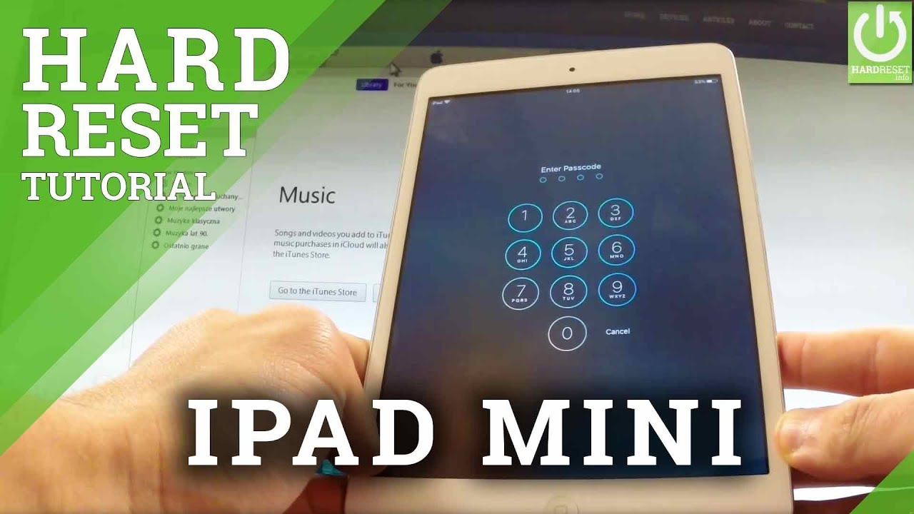 Hard Reset APPLE iPad Mini - Remove Password in APPLE iPad