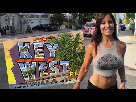 Farm Girl and Exoman in Key West Florida
