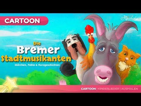 Die Bremer Stadtmusikanten kinder geschichte - Gute Nacht Geschichte und Märchen für Kinder