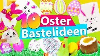 10 OSTER Bastelideen | Osterhase selber basteln | Geschenke für Ostern | Karten falten | Schoko Ei