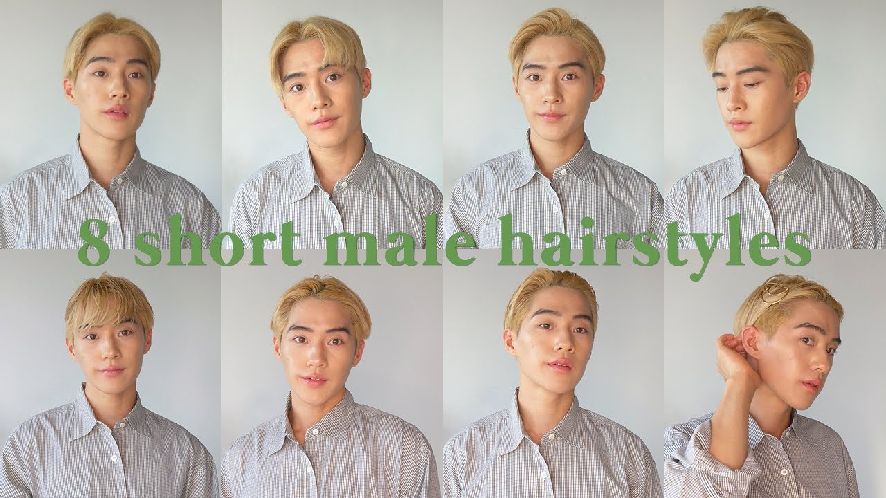 8 easy male hairstyles for short hair 🥑 🌿