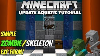 Minecraft 1.14 Zombie/Skeleton EXP Farm Tutorial! Works on ALL Platforms! thumbnail