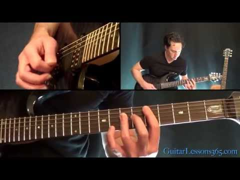 Unchained Guitar Lesson Pt.1 - Van Halen - All Rhythm Guitar Parts