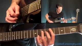 Unchained Guitar Lesson Pt.1 - Van Halen - All Rhythm Guitar Parts